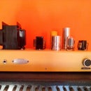 DIY tube amplifier with old tv