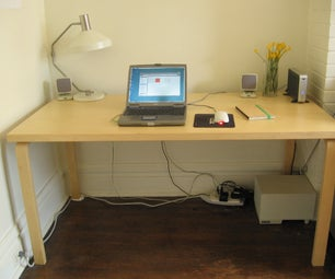How to Mount a Power Strip (and Power Bricks) Under Your Desk