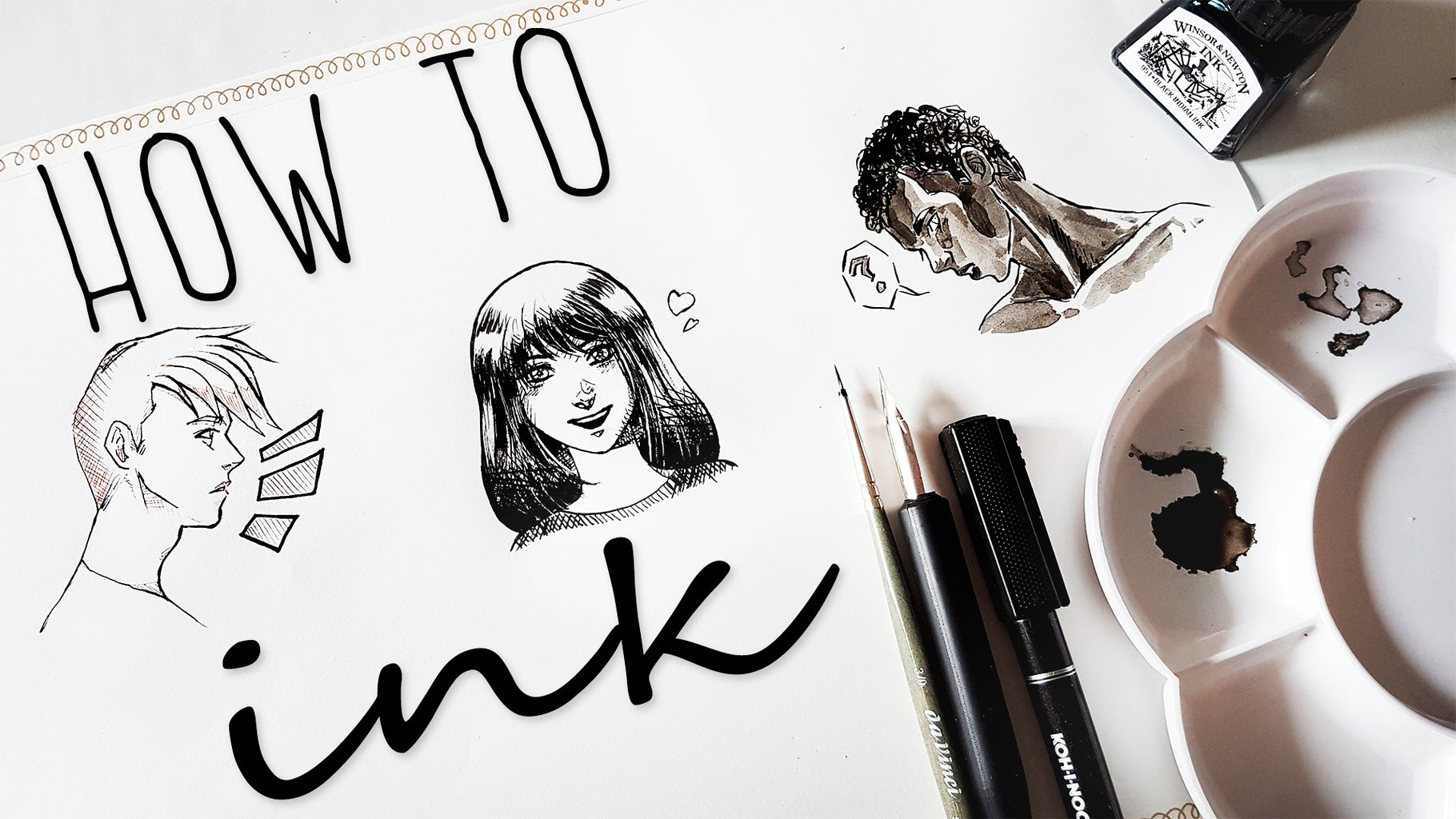 HOW TO INK YOUR ARTWORKS - Drawing Tutorial for Beginners