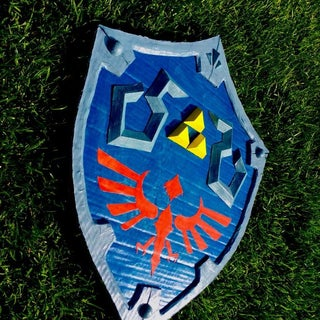 Painting the Guardian Shield From Legend of Zelda Breath of the Wild