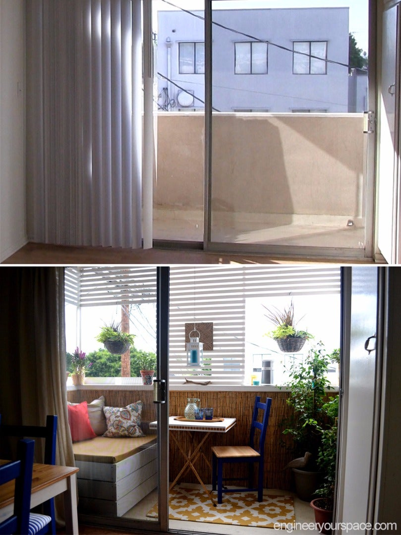 Small Rental Balcony Makeover: Before and After