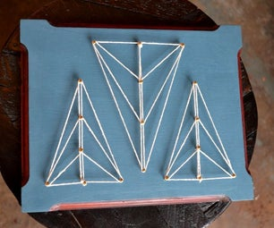 Reclaimed String Art Plaques