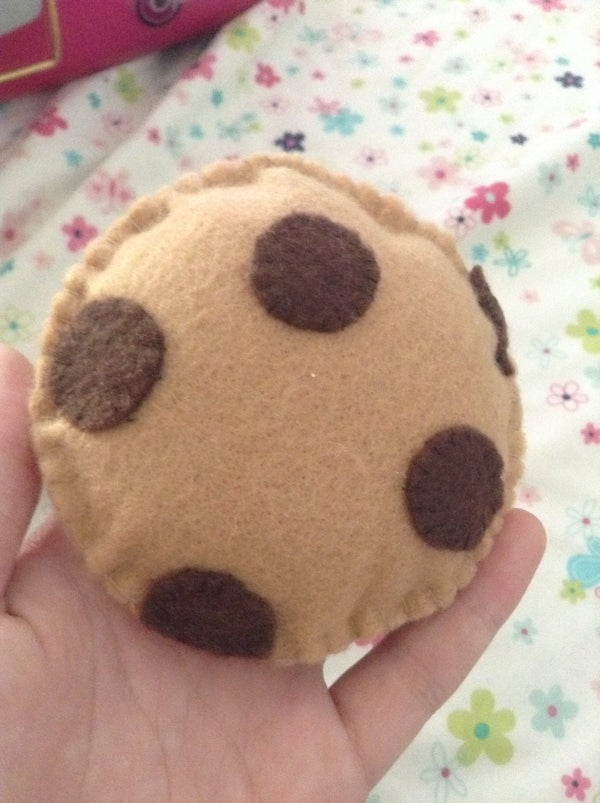 Sewing a Felt Chocolate Chip Cookie