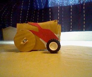 Cardboard Motorized Car