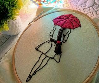 有伞的夫人