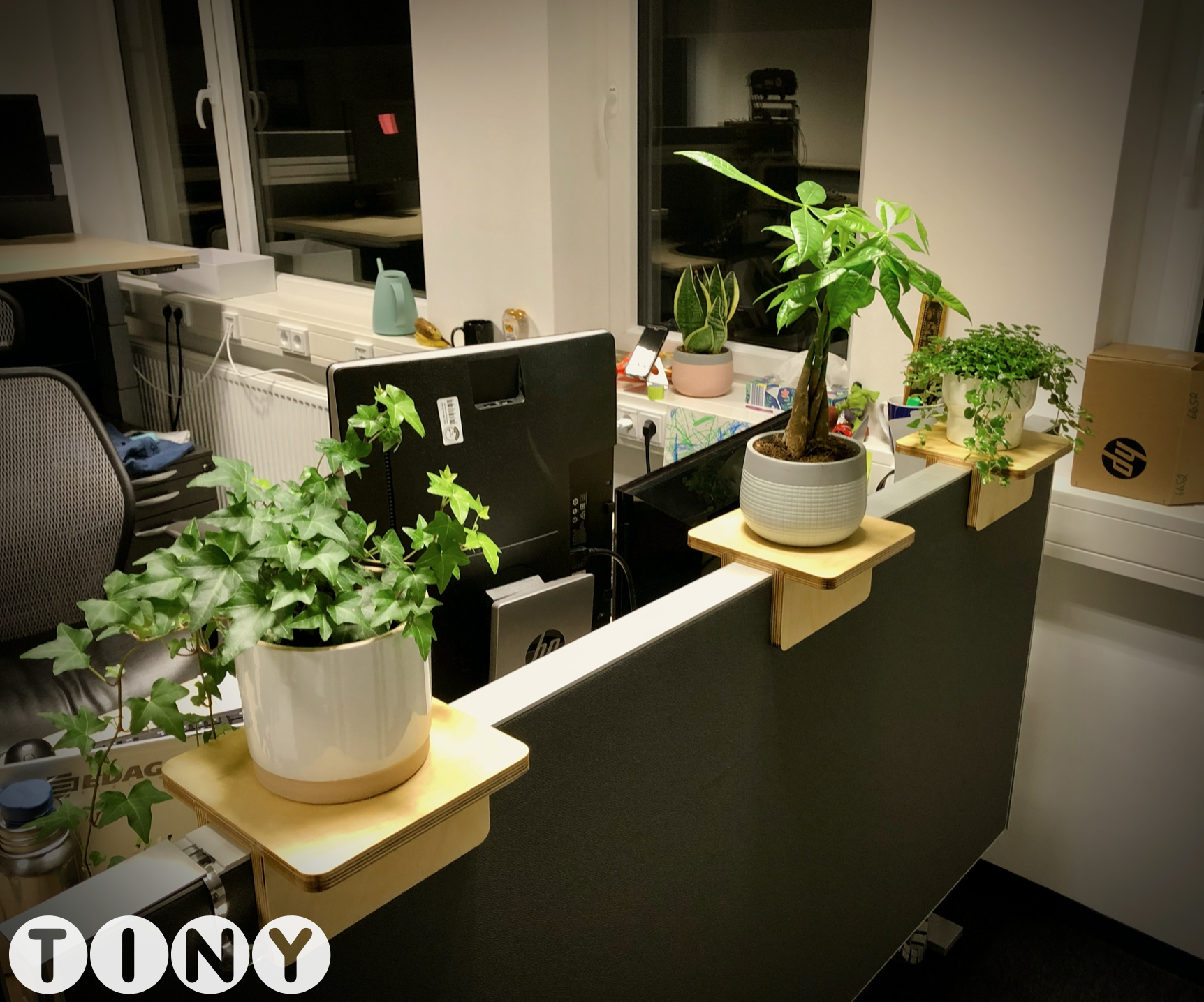 Plant Shelfs for Office Cubicle