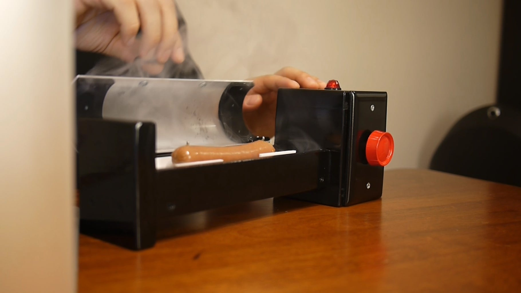 Testing the Hot Dog Cooker