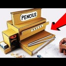 How to Make a Pencil Sharpener Dispenser Machine From Cardboard DIY at HOME