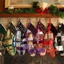 Woven Ribbon Christmas Stocking