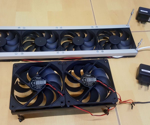 Fan Assembly for Fireplaces and Heat Radiators
