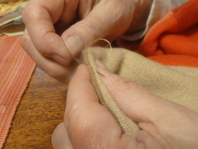 A Little Hand Sewing . . . .