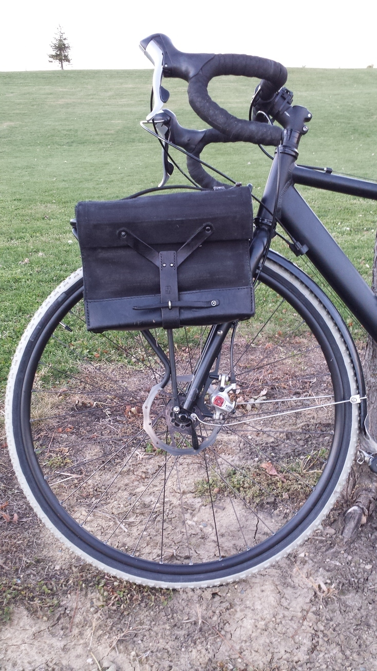 Make bicycle panniers out of swiss army surplus bags