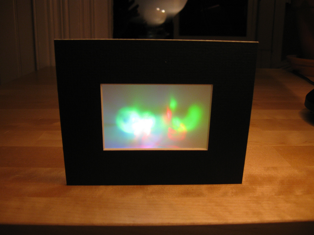 Framed Color Changing LED Art
