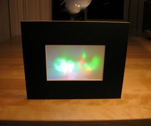 Framed Color Changing LED Art