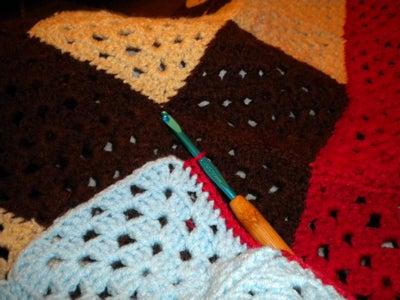Crochet Binding Around Edge of Blanket