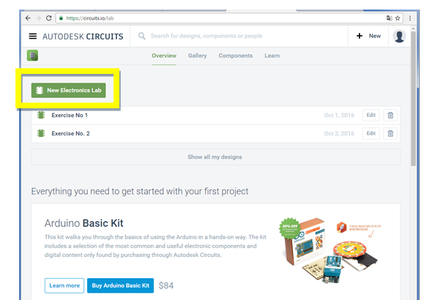 Start Working With Autodesk Circuits