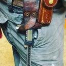 Custom Leather Caliper Holster