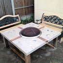 Polished Concrete Fire Pit Table