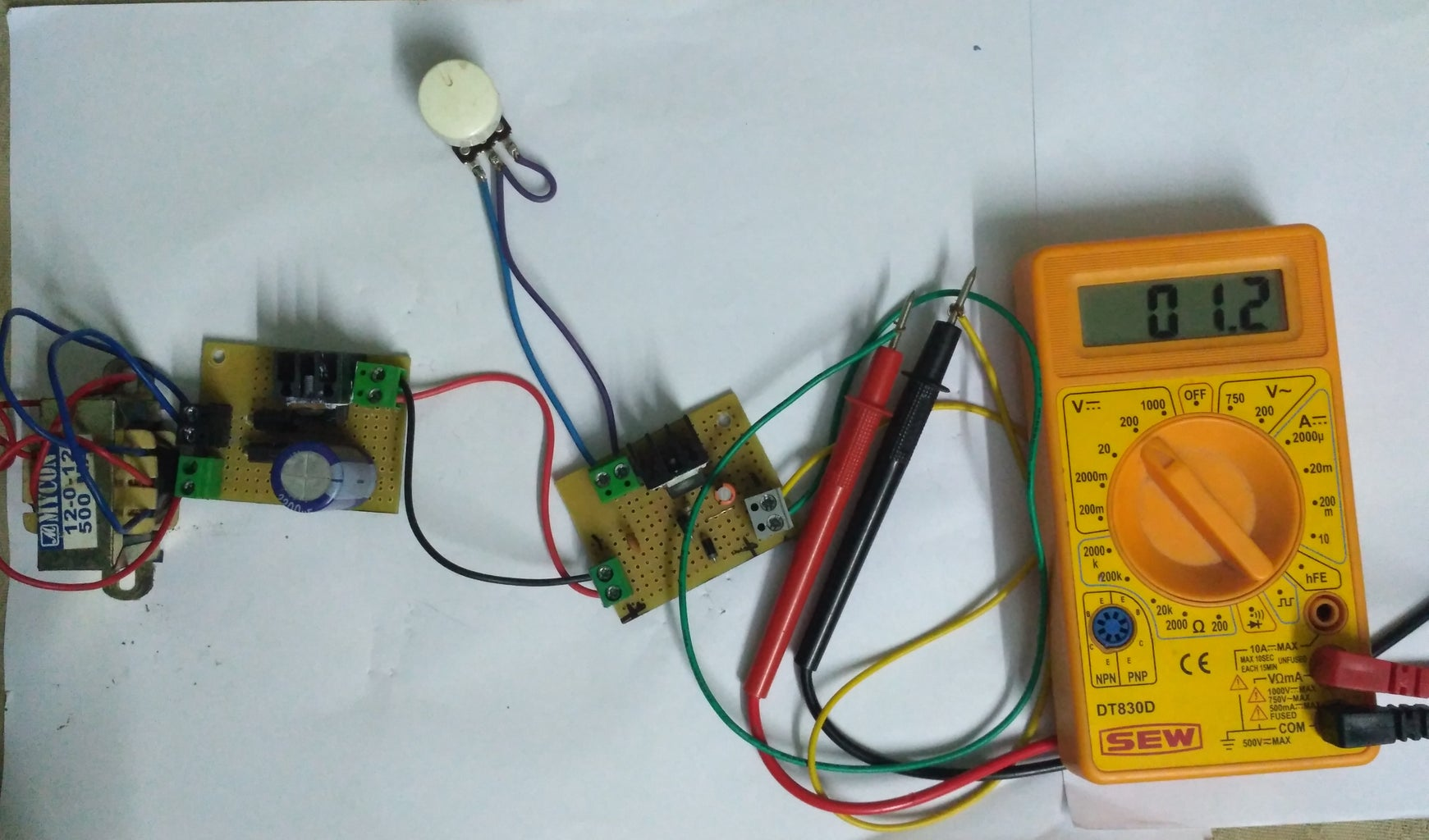 Assembling Variable Power Supply