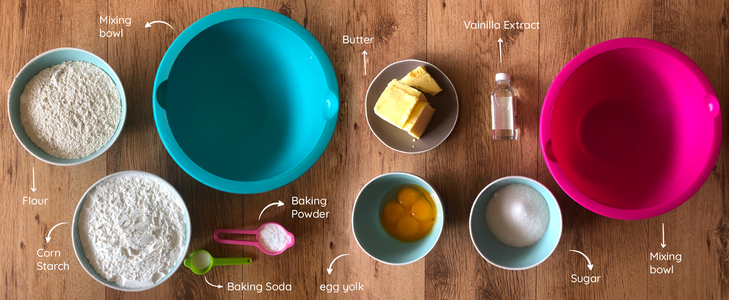 Utensils and Ingredients: