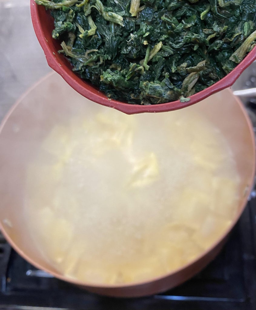 Cooking Spinach and Corn:
