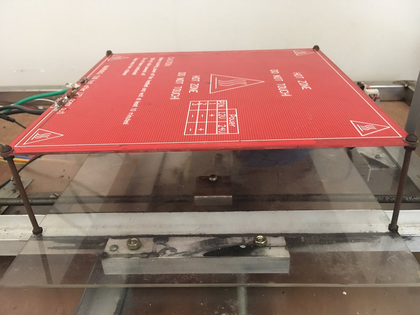 Attaching the Y Axis Platform and the Heated Bed