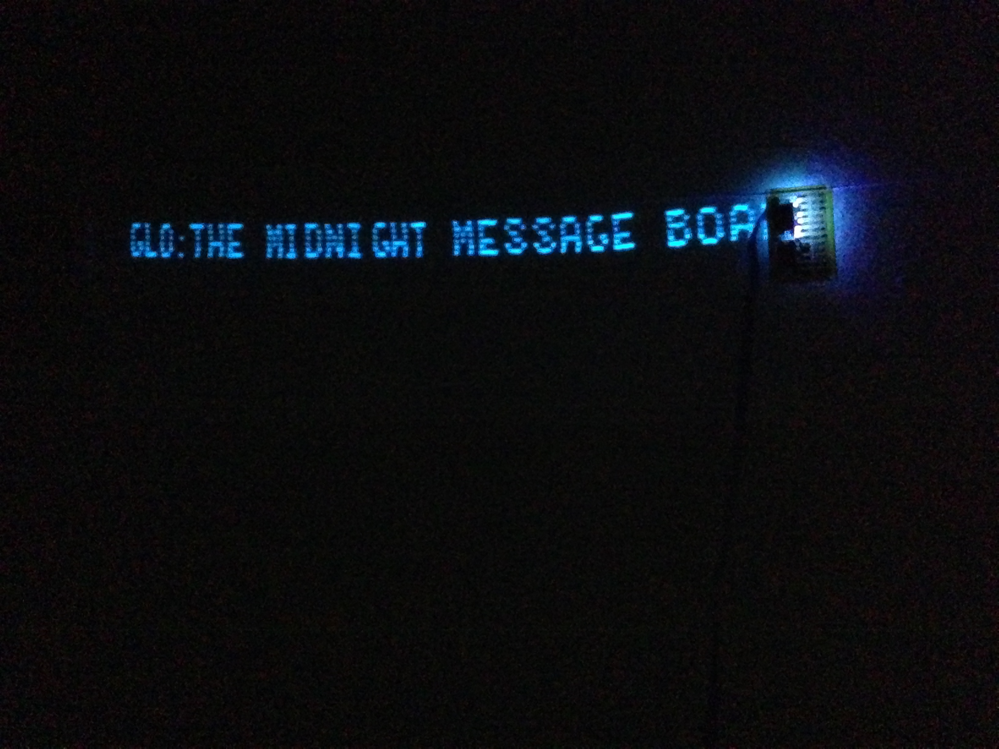 GLO: The Midnight Message Board and RSS Display