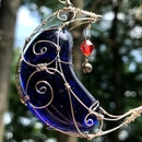 How to Design (and Finish!) a Wire Wrapped Moon Pendant