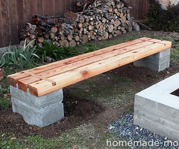 HomeMade Modern DIY Outdoor Concrete Bench