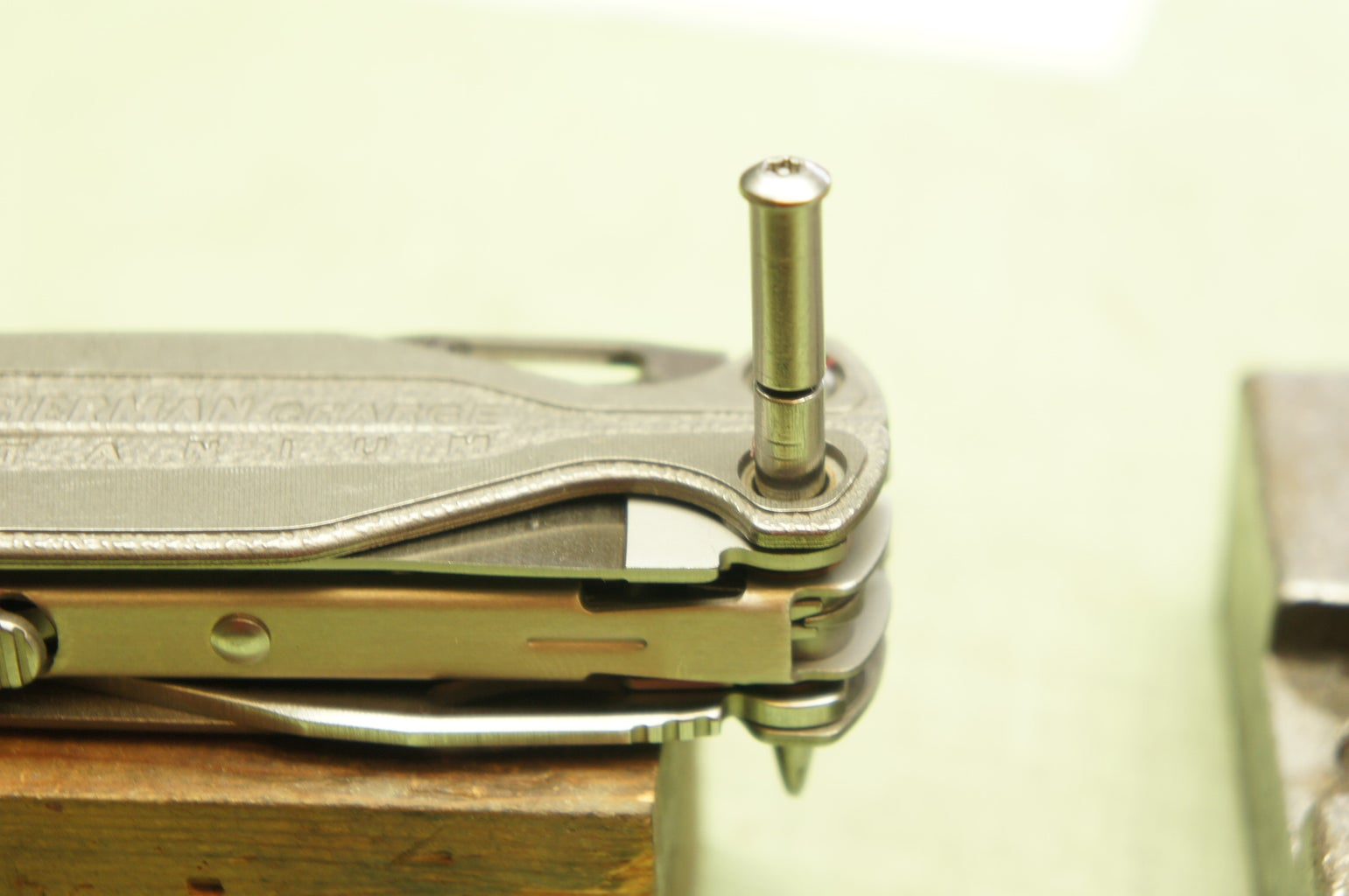 Re-insert the Exterior Functions Pin (side B)