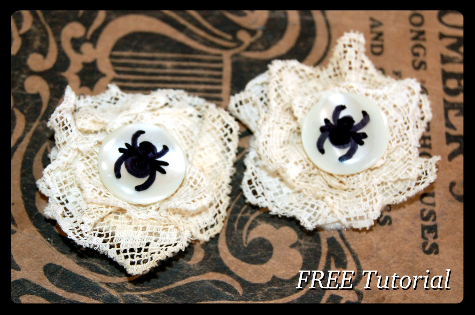 Spider and Web Hair Clip Tutorial