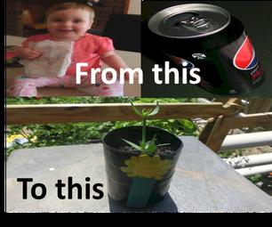 Can Diaper Plant Pot