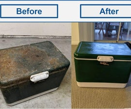 Classic Cooler Salvaged From Dumpster & Restored!