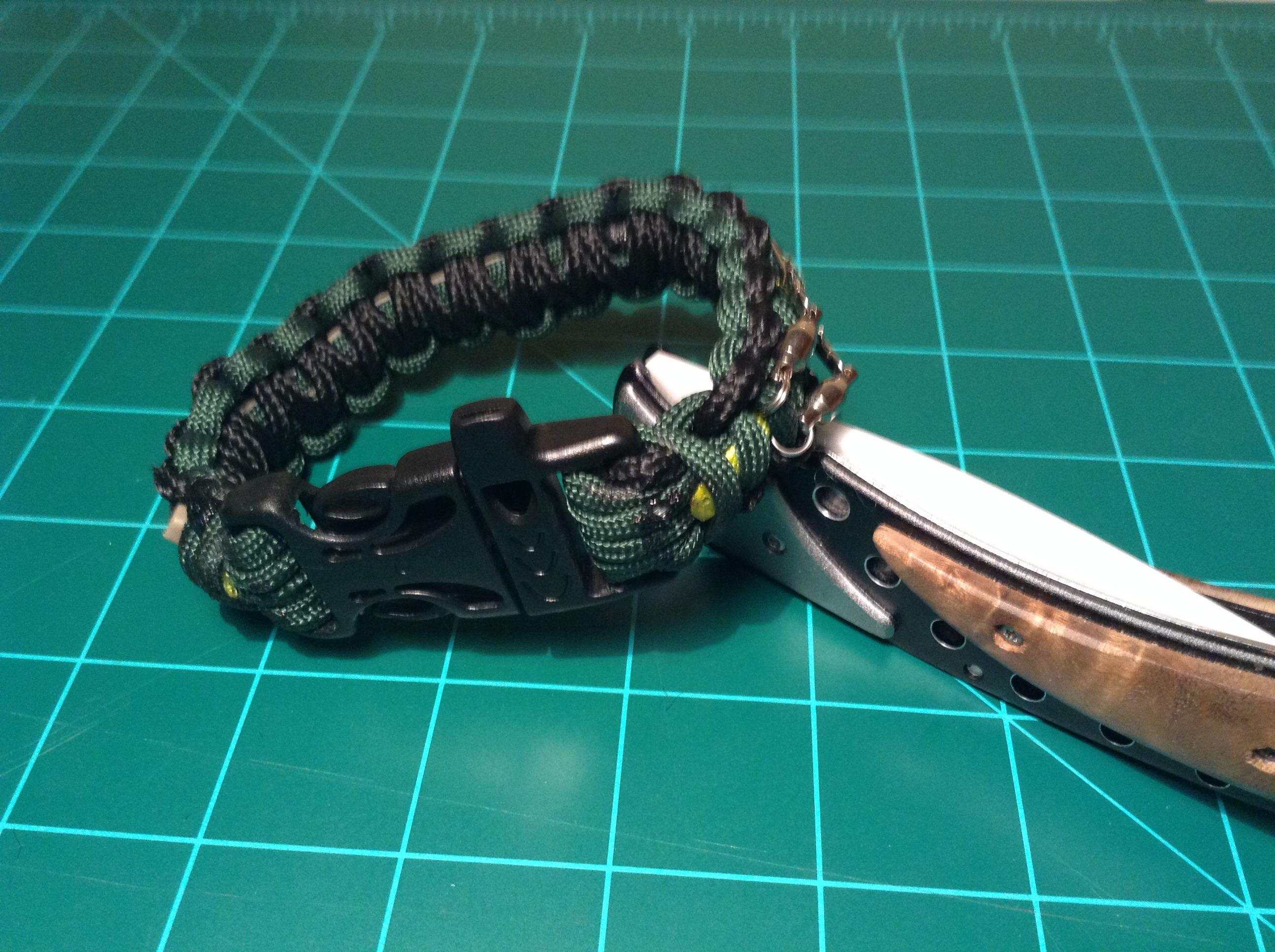 Survival Kit Inside A Paracord Bracelet