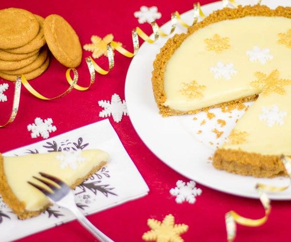How to Make a No Bake, 4 Ingredient White Christmas Tart