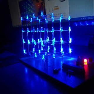 LED Cube 4x4x4