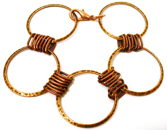 Large Loops Copper Bracelet