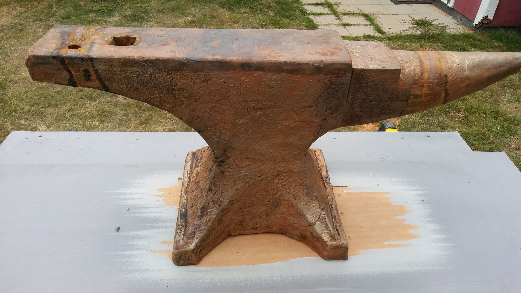 A Very Fine Surface Rust May Develop.  Clean It Off With an Angle Grinder and Wire Wheel.