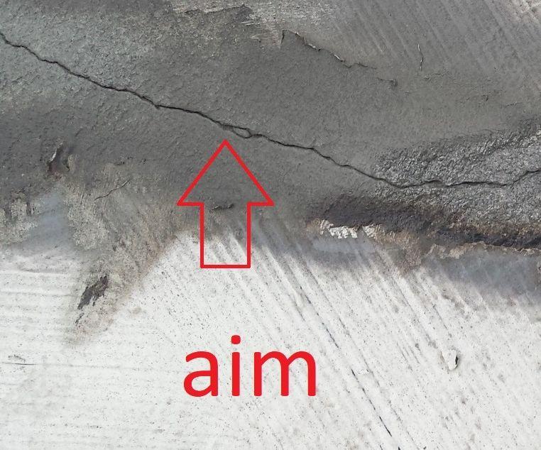 Crack Repair in Concrete Roof