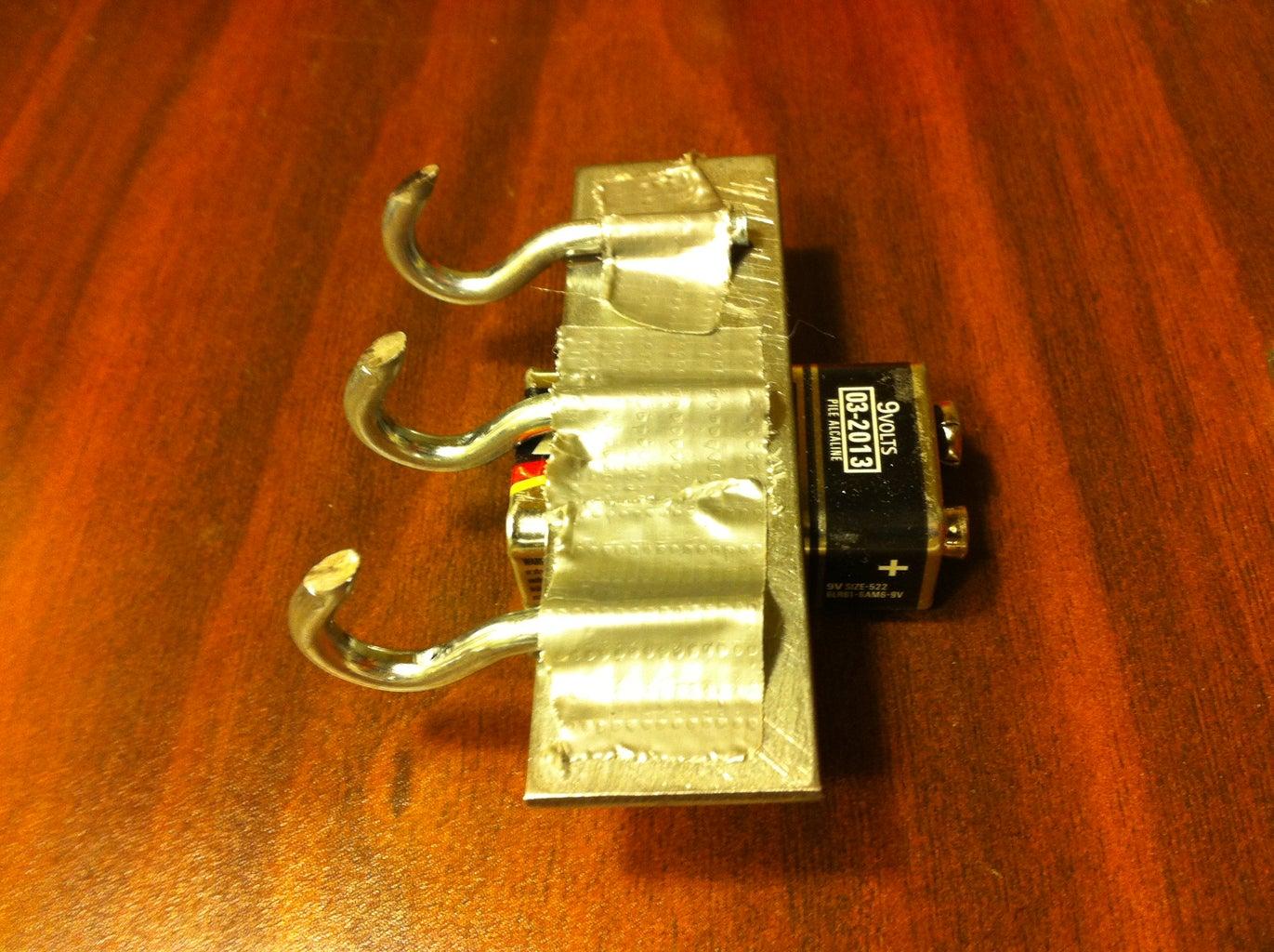 J-B Weld Hooks to Metal Plate
