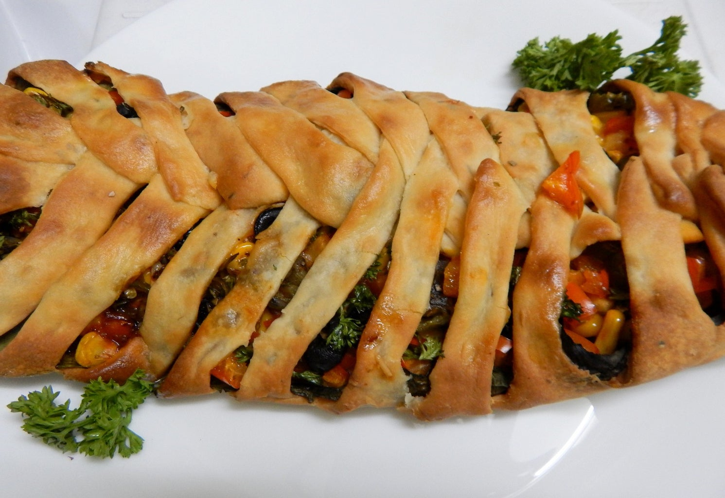Prep and Assembly..(Braided Calzone)!