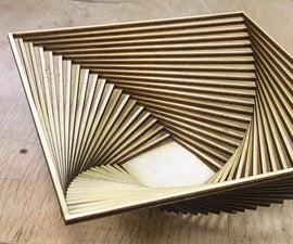 Laser Cut Wooden Basket