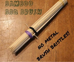 Quick Bamboo Skewer BBQ Brush