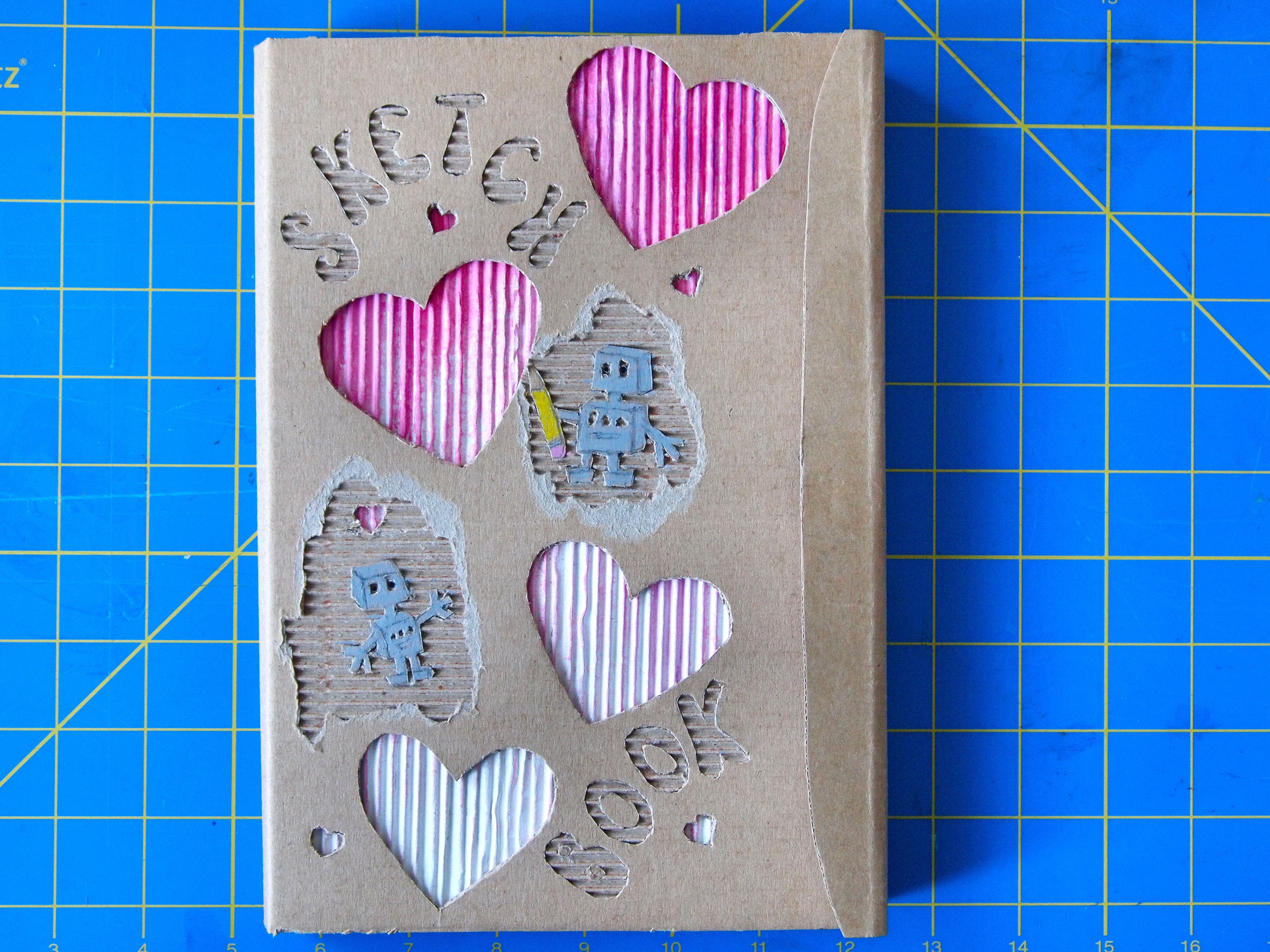 DIY Cardboard Sketchbook