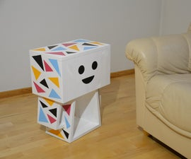 Cardboard Box Woman  - a Side Table Inspired by Danbo Photos