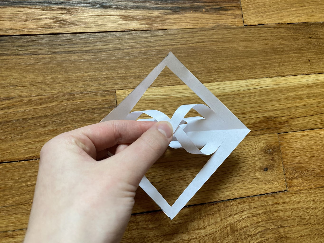 Glue Third and Fourth Flaps Together.