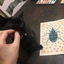 Mixed Media Weevil Painting