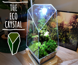 The Eco-Crystal - Mini Ecosystem in a Crystal Shaped Planter