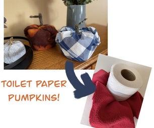 Toilet Paper Pumpkins!
