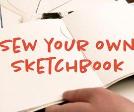 Make a Pamphlet Stitch Sketchbook